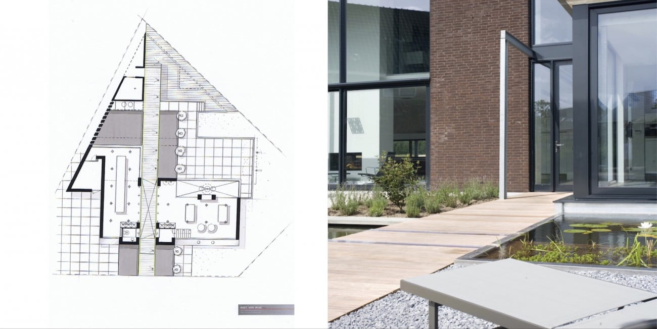 Project ontwerp nieuwbouw exterieur interieur in elst nl interieurarchitect - Decoratie tuin exterieur ontwerp ...