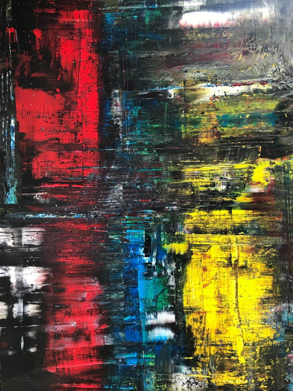 Titel: Red Blue Yellow - 60 x 80 cm Acryl op canvas 950 euro